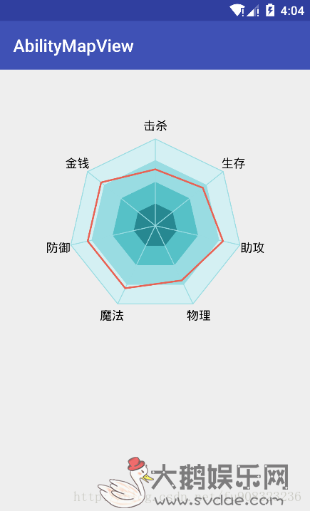android自定义view之lol能力七星图